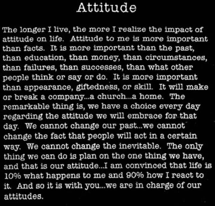 essay on attitude-it changes everything