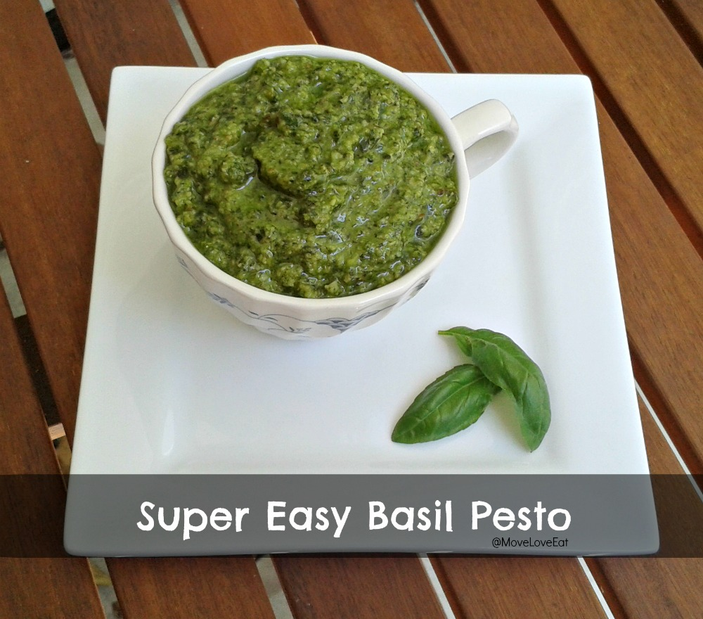 Easy Basil Pesto Recipe - Move Love Eat - Health and Fitness Blogger