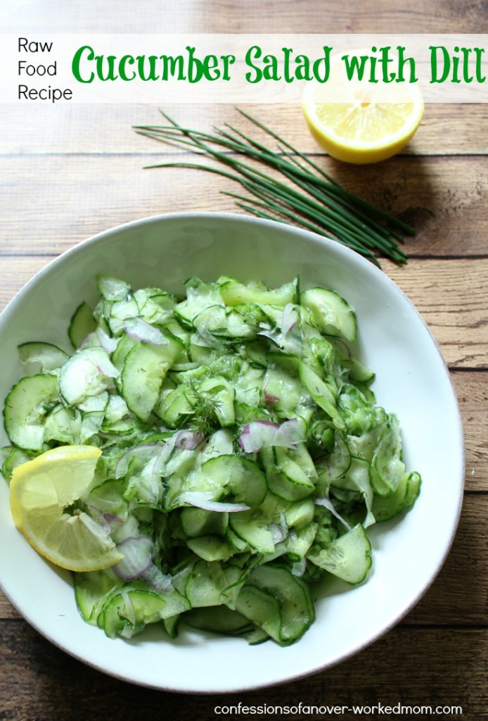 Raw Food Cucumber Salad with Dill - Non Lettuce Salads