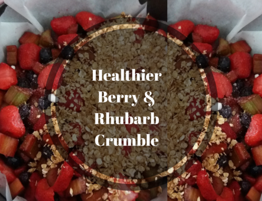 Healthier Berry & Rhubarb Crumble Move Love Eat